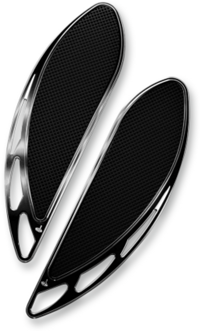 Carl Brouhard Elite Velocity Driver Floorboards for '12-Up Indian Touring Models (Choose Black or Chrome)