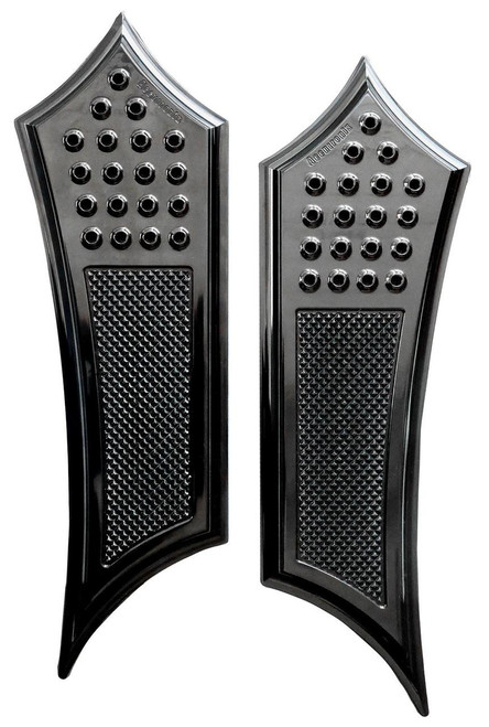 Accutronix Extended Drilled Instigator Floorboards for '14-Up Indian Touring Models (Select Style)
