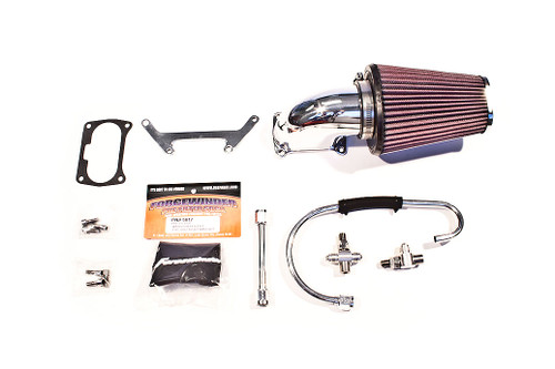 ForceWinder XRII Square Port Air Kit for '95-01 Harley Davidson with Magneti Marelli FI (Black or Chrome)