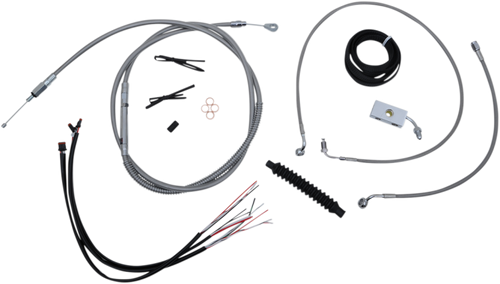 "LA Choppers Complete Handlebar Cable Kits for '18-Up Harley-Davidson Softail Models 12"" to 20"" Kits - Stainless Braided"