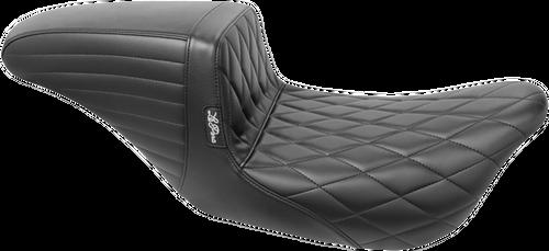 LePera Kickflip Solo Seat for '08-Up Harley Davidson Touring Models - Diamond Seat
