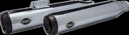 S&S Grand National Mufflers for '18-Up Harley Davidson FLHC & FLDE Softail Models - Chrome