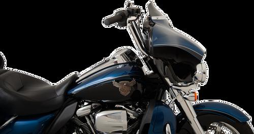 Klock Werks FLARE Low Windshield for '14-Up Harley Davidson FLHT/FLHX/FL Trike Models 4 inch - Black Smoke