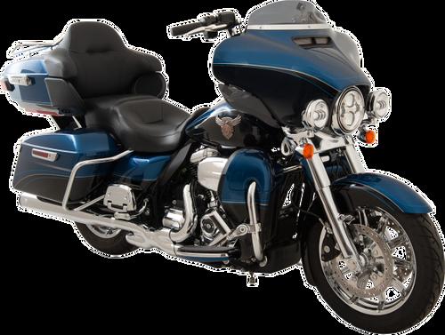 "Klock Werks FLARE Low Windshield for '14-Up Harley Davidson FLHT/FLHX/ FL Trike Models 4"" Black Smoke"