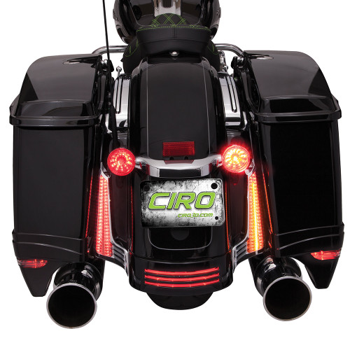 Ciro Filler Panel Lights for '14-Up Road Glide Custom/Special, Road King Special and Street Glide Models - Chrome or Black [Sold in pairs]