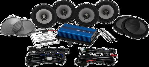 Hogtunes 200 Watt Amp/Four Speaker Kit for '14-Up Harley-Davidson FLHTCUI, FLHTK, FLHTCUG Models