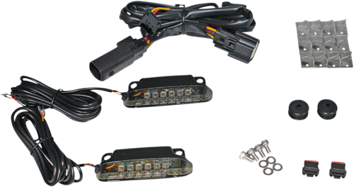 Custom Dynamics Saddlebag Rail Light Kit for Harley-Davidson Touring Models w/ Air Wing Saddlebag Rails