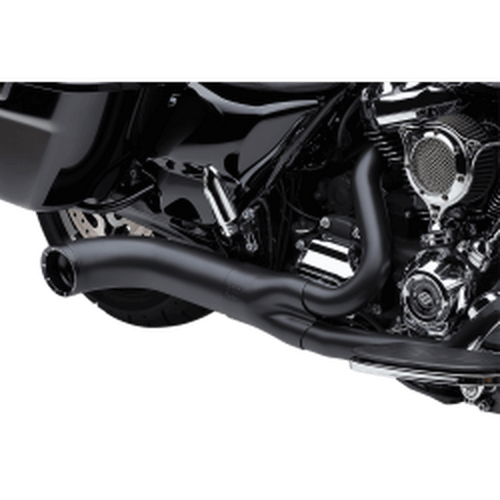 Cobra Turnout 2-into-1 Exhaust System for '17-Up Harley-Davidson Touring (Choose Chrome or Black)