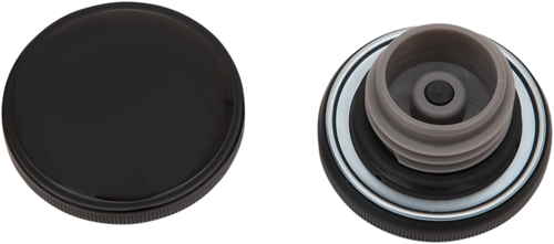 Drag Specialties Screw In Gas Cap for L'96-Up Harley Davidson Models - Gloss Black (Choose Vented or Non-Vented)