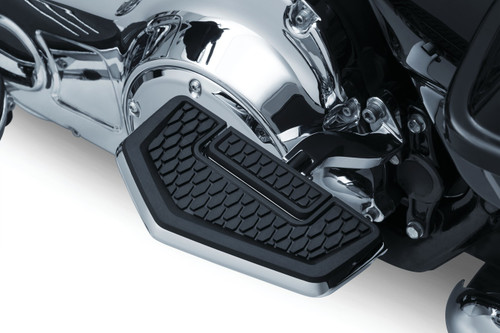 Kuryakyn Hex Folding Floorboards for Driver or Passenger (Splined Adapters Sold Separately) Chrome or Satin Black