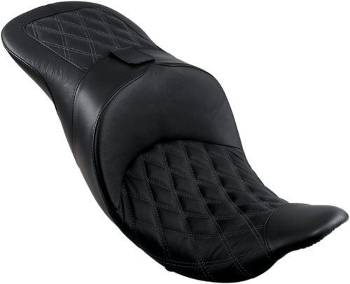 Danny Gray TourIST 2-Up Seat for '08-Up Harley Davidson Touring Models - Diamond Stitch