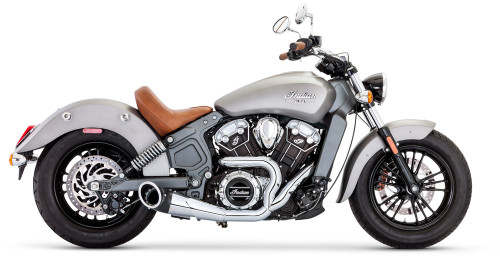 Freedom Performance Turnout 2-1 Exhaust System for '15-Up Indian Scout Models (Select Finish)
