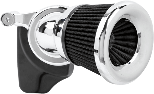 Arlen Ness Velocity 65° Air Cleaner Kit for '08-16 Harley Davidson Touring and Trike (without Fairing Lowers) and '16-17 FXDLS, '16-17 Softail Models, '14-15 FLSTNSE, '13-14 FXSBSE and '11-12 FLSTSE (Choose Chrome or Black)