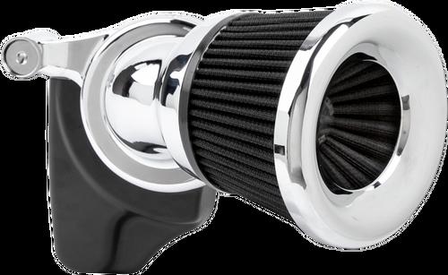 Arlen Ness Velocity 65° Air Cleaner Kit for '01-17 Delphi Twin Cam Models, '99-06 Carb Models (Excludes '08-16 Touring, '16-17 FXDLS, '16-17 Softail Models, '14-15 FLSTNSE, '13-14 FXSBSE and '11-12 FLSTSE) - Choose Chrome or Black