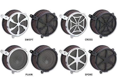 Cobra Air Cleaner Kit for '18-Up Harley Davidson M8 Softail FXBB, FXLR, FLSL, FLDE, FLSB, (Except 114 Engines) Choose Chrome or Black