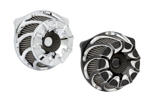 Arlen Ness Drift Air Cleaner Kits for '17-Up Harley Davidson Touring Models (Select Chrome or Black)