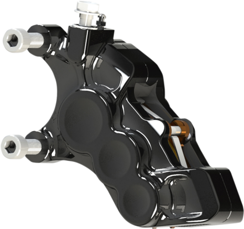 Arlen Ness Six Piston Differential Bore Brake Calipers for '08-Up Harley Davidson Touring, '18-Up Softail, '06-17 Dyna (Select Chrome or Black) for 14-in Rotors