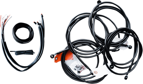 LA Choppers Complete Stainless Steel Handlebar Cable Kit for 2016 Harley-Davidson Touring Models (12 to 20 inches) Black, Midnight or Stainless (Does Not Include Electronic Throttle Control Extension)