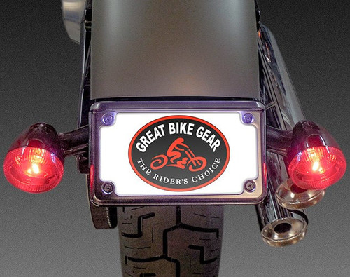 Easy Brackets License Plate/Turn Signal Relocation Kit for '18-Up Street Bob/Slim - Chrome