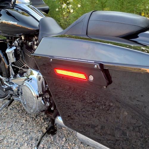 Custom Dynamics Saddlebag Latch Lights for '99-Up Harley Davidson (Select Red or Smoke)