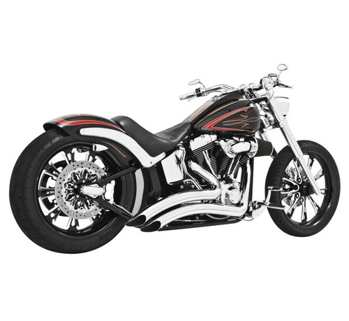 Freedom Performance Sharp Curve Radius for '18-Up Harley Davidson Softail Models - Chrome with Chrome Tips (Click for Fitment)