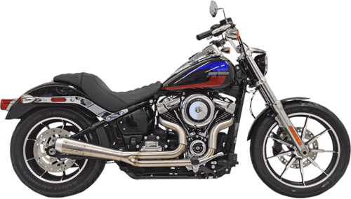 Bassani 50th Anniversary 2 into 1 Exhaust System for '18-Up Street Bob FXBB - Stainless