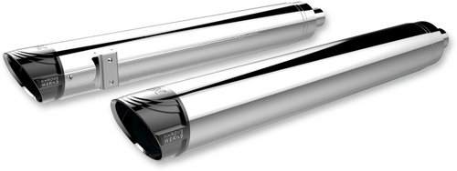 Khrome Werks 4 inch Cat Back Slip On Mufflers with Billet Tips for '14-Up Indian Chief Classic, Chief Vintage