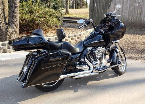 Color Matched 4 inch Stretched Extended Saddlebags for '14-20 Harley Davidson Touring Models