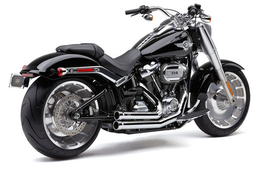 Cobra Speedster 909 Exhaust for '18-Up Harley Davidson Softail Fatboy and Breakout (Choose Chrome or Black)