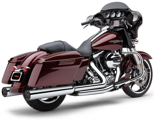 Cobra 4.5 inch PowerFlo RPT Mufflers with Race Pro Tips for '95-16 Harley Davidson Touring Models