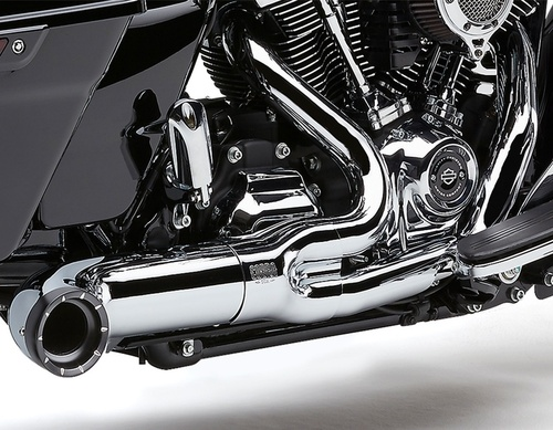 Cobra Turnout 2 into 1 Exhaust for '09-16 Harley Davidson Touring Chrome or Black