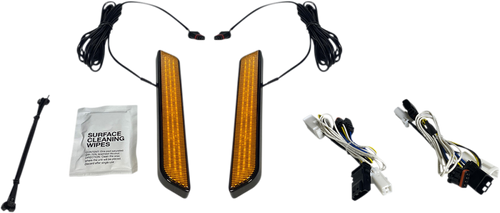 Custom Dynamics Amber LED Front Fork Lightz for '10-13 Harley Davidson Street Glide, Road Glide Custom