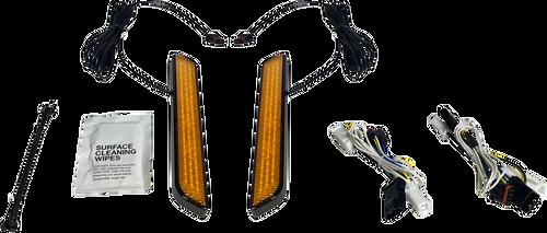 Custom Dynamics Amber LED Front Fork Lightz for '97-13 Harley Davidson (Click for Fitment)