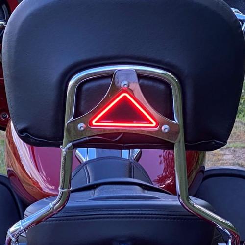 Custom Dynamics Run/Brake LED Backrest Lights for '14-Up Harley Davidson Touring Models - Chrome or Gloss Black