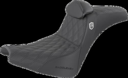 Saddlemen Pro Series SDC Performance Gripper LS Seat with Driver Backrest for '18-Up Harley Davidson Street Bob FXBB