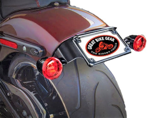 Easy Brackets License Plate/Turn Signal Relocation Kit for '18-Up Harley Davidson Breakout