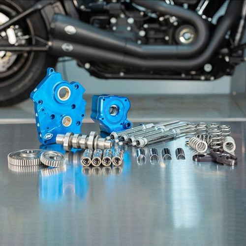 S&S Cycle 540G Cam Chest Kit for '17-Up Water Cooled 124 inch and Up Harley Davidson M-Eight Engines - Chrome Pushrod Tubes