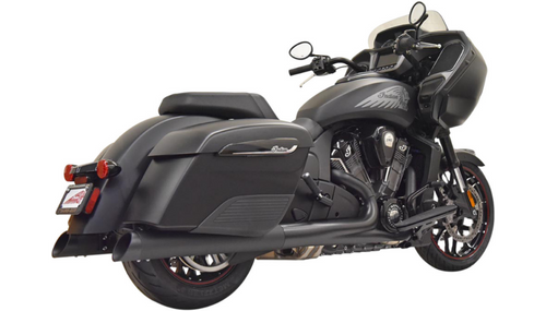 Bassani 4-inch Slip On Mufflers for '14-Up Indian Challenger, Chieftain, Roadmaster & Springfield - Black