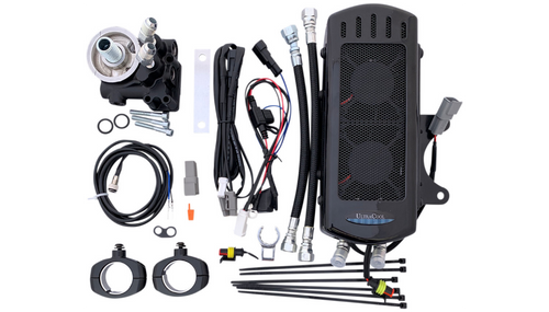 UltraCool Oil Cooler Kits for '14-21 Indian Chief/Chieftain, '16-21 Springfield, '15-21 Roadmaster Models - Chrome or Black