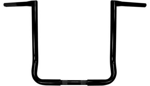 L.A. Choppers Twin Peaks 1 1/4 inch Handlebars for '96-Up FLHT and FLHX Models -16 inch Black