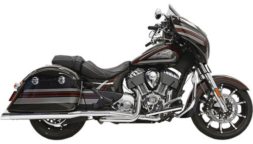 Bassani True Dual Exhaust System for '15-19 Indian Chieftain and Roadmaster - Chrome