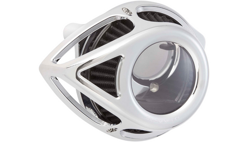 Arlen Ness Clear Tear Sucker Air Cleaner for '17-21 Harley Davidson Touring and '18-21 Softail Models - Chrome