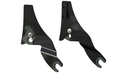 Drag Specialties Quick Release Side Plates for '09-21 Harley Davidson Touring - Black