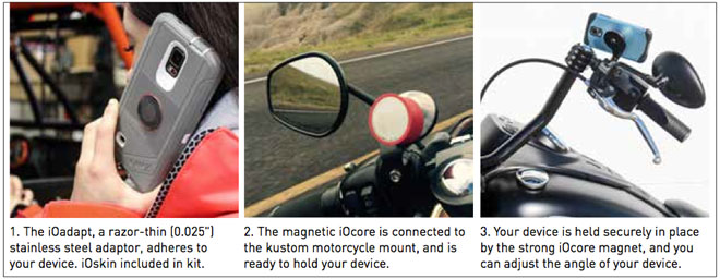 Instructions for installing cell phone mount to a motorcycle