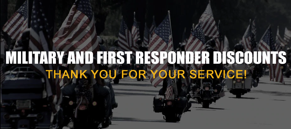 military and first responders discounts