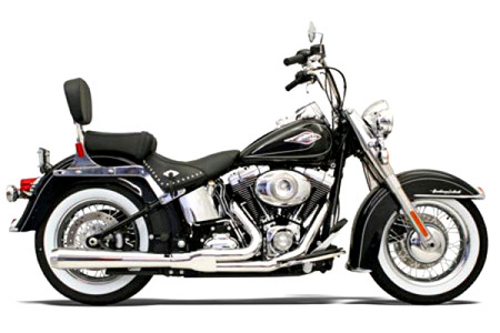 Bassani Road Rage 2-Into-1 Exhaust for Softail '86-17