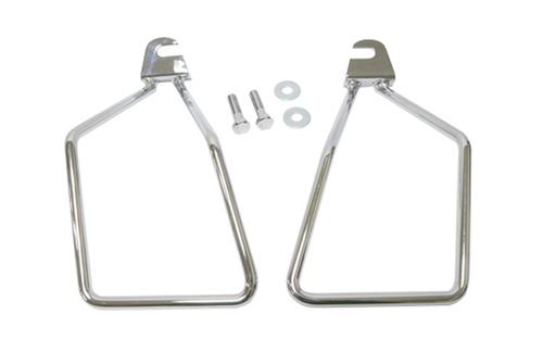 Hard Drive Saddlebag Supports for '00-Up FXST Single Bolt