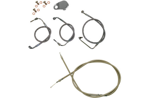 LA Choppers Standard Handlebar Cable/Brake Line Kit for