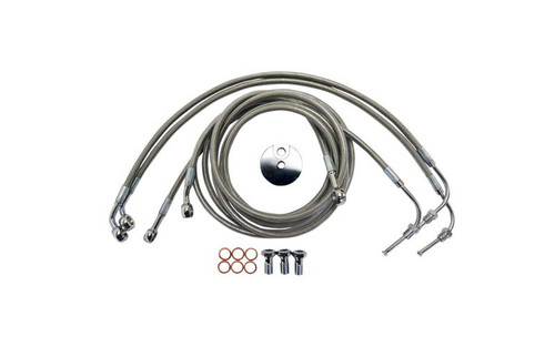L.A. Choppers Stainless Steel Brake Lines for '08-13 FLTR