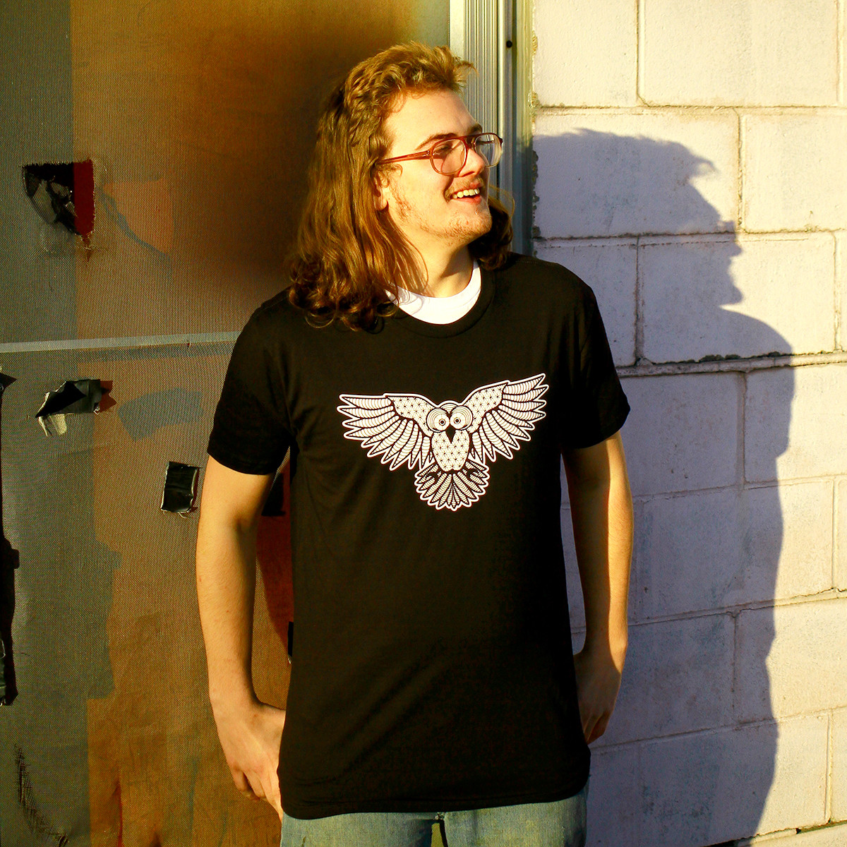 Black Strix Owl Tee